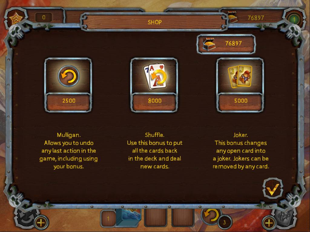 Pirate Solitaire screen shot