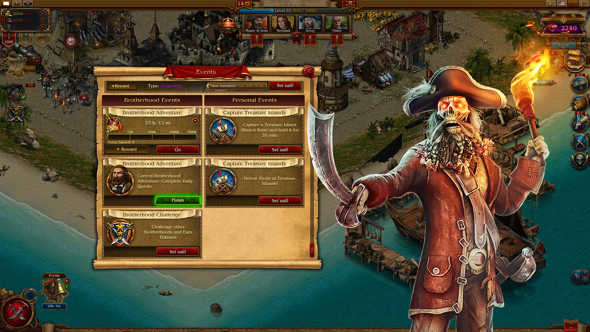 Pirates: Tides of Fortune screen shot