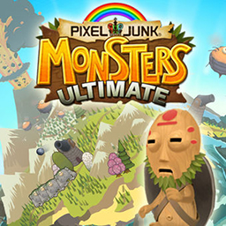 PixelJunk™ Monsters HD - Tikiman must protect his babies from the monster hordes trying to eat them!  Defend them in the tower defense game PixelJunk Monsters™ HD! - logo