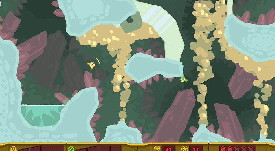 PixelJunk Shooter screen shot
