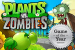 Siembra plantas en Plants vs. Zombies, un juego de estrategia de accin PopCap.