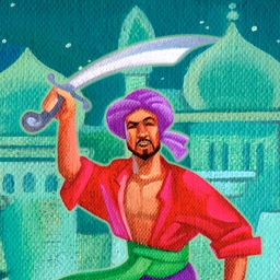 Ali Baba Slots on Pogo - Help Ali Baba find the seven lost jewels in the free online casino game Ali Baba Slots! - logo
