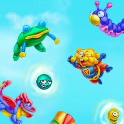 Balloon Bounce on Pogo - Trap the invading aliens and score yourself big points by inflating your wacky shaped balloons in Balloon Bounce! - logo