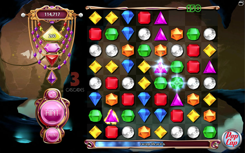 Bejeweled 3 on Pogo screen shot