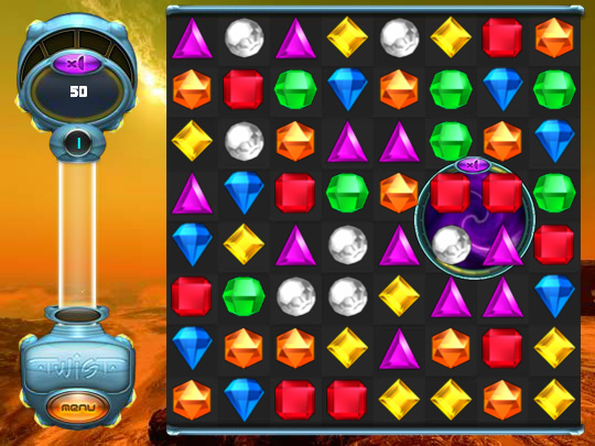 Bejeweled Twist on Pogo screen shot