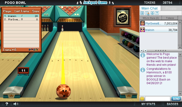 Pogo Bowl screen shot