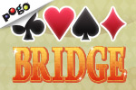 Partner with a friend or make a new one in Bridge. It takes two to make a winning hand! Show off your card skills in Pogo.com's free game.