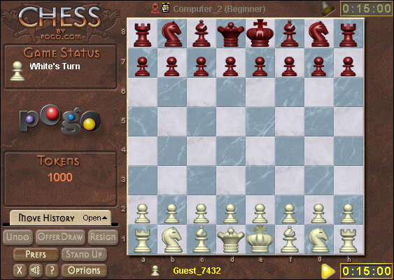 Chess on Pogo screen shot