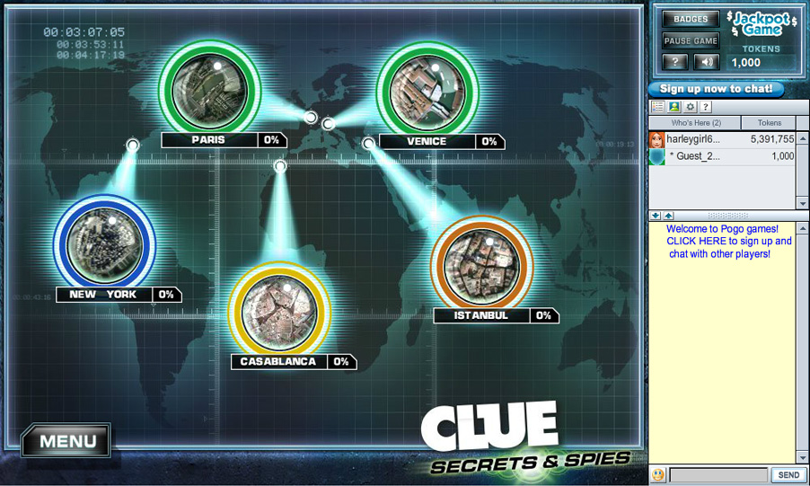 CLUE: SECRETS & SPIES screen shot