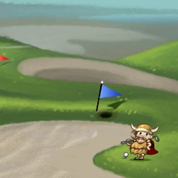 Golf Solitaire on Pogo - You're racing the timer! This classic solitaire card game adds a whole new twist. Play Golf Solitaire free today on Pogo.com! - logo