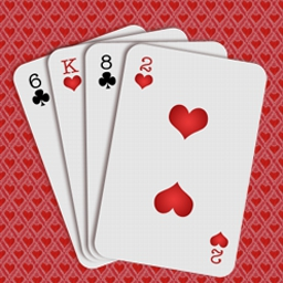 Hearts on Pogo - Shoot for the moon and break some hearts in this fun online version of the classic card game: Hearts! - logo