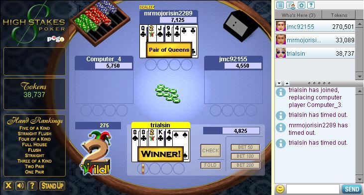 three card poker free online pogo