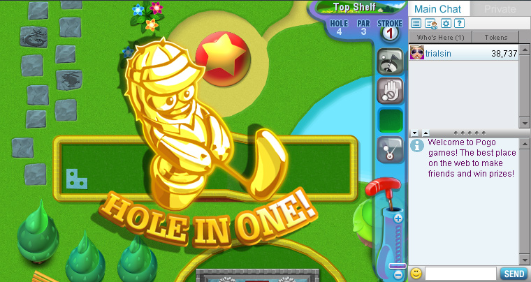 Mini Golf Madness on Pogo screen shot
