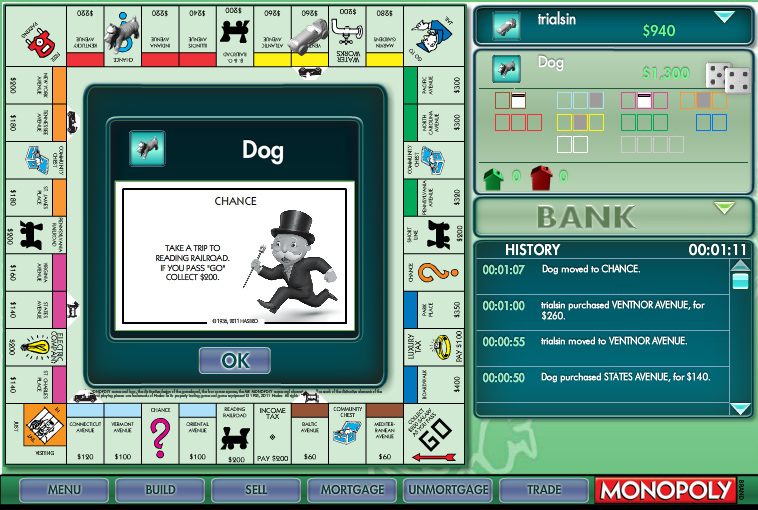 MONOPOLY Classic Online screen shot