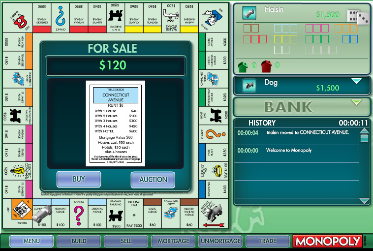 play free classic monopoly games online