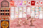Screenshot of Payday FreeCell on Pogo