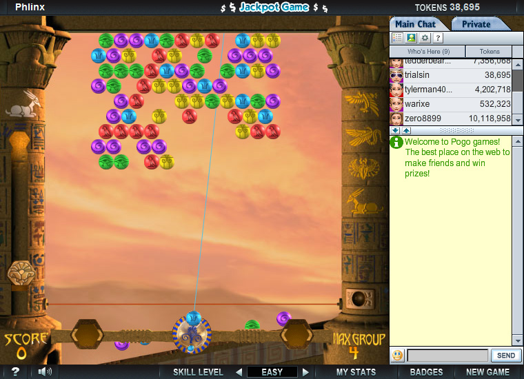 Phlinx on Pogo screen shot