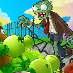 Plants vs. Zombies on Pogo - Think fast and plant faster to stem a zombie attack and save your home in this popular game from PopCap. Play Plants vs. Zombies Online for free! - logo