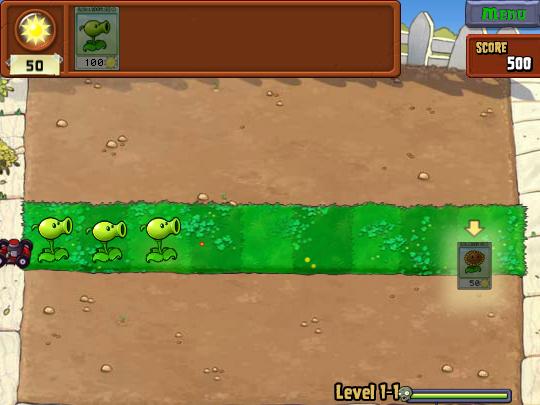 Plants vs. Zombies on Pogo screen shot