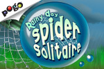 Save a friendly littlespiderfrom the pouring rain inRainy Day Spider Solitaire! Play it free online at EA's Pogo.