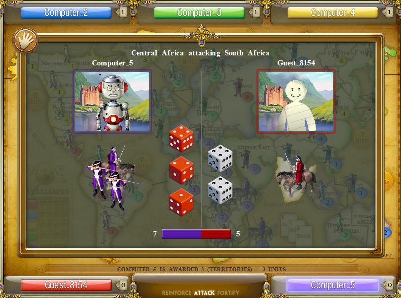 RISK Online screen shot