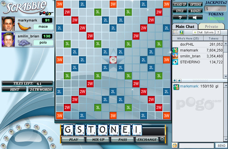SCRABBLE Online screen shot