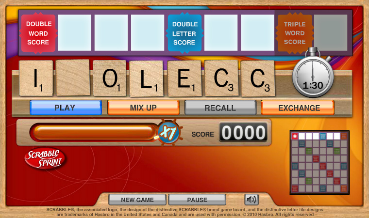 SCRABBLE Sprint Online screen shot