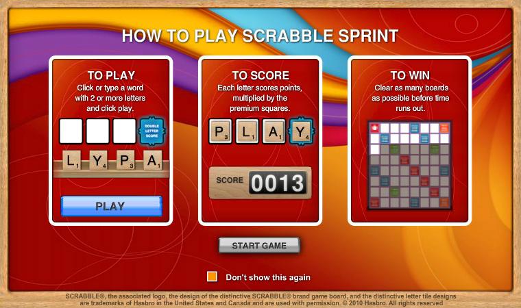 SCRABBLE Sprint Online screen shot
