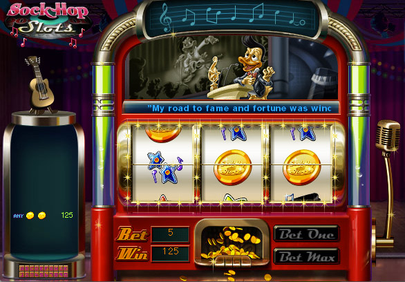 Sock Hop Slots screen shot