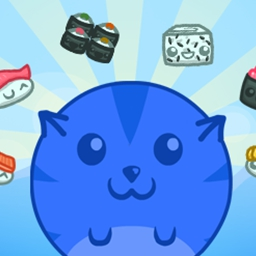 Sushi Cat 2 on Pogo - Test your skills at Pogo's exciting free, online puzzle game Sushi Cat 2! Fill your belly while defeating Bacon Dog! - logo