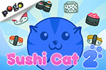 Test your skills at Pogo's exciting free, online puzzle game Sushi Cat 2! Fill your belly while defeating Bacon Dog!