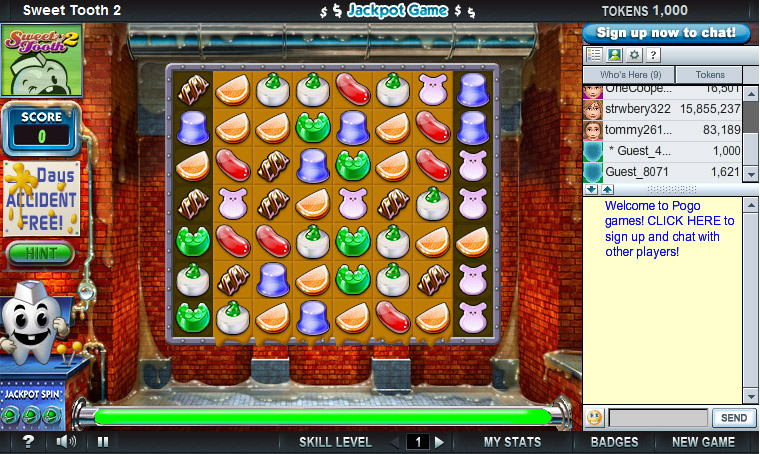 Sweet Tooth 2 on Pogo screen shot
