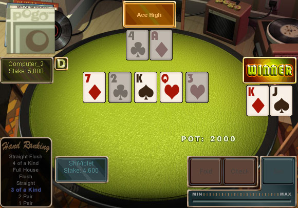 play texas holdem pogo games free no limit