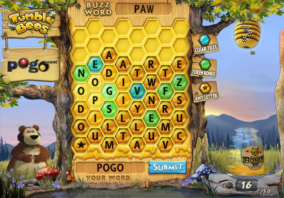 Tumble Bees on Pogo screen shot