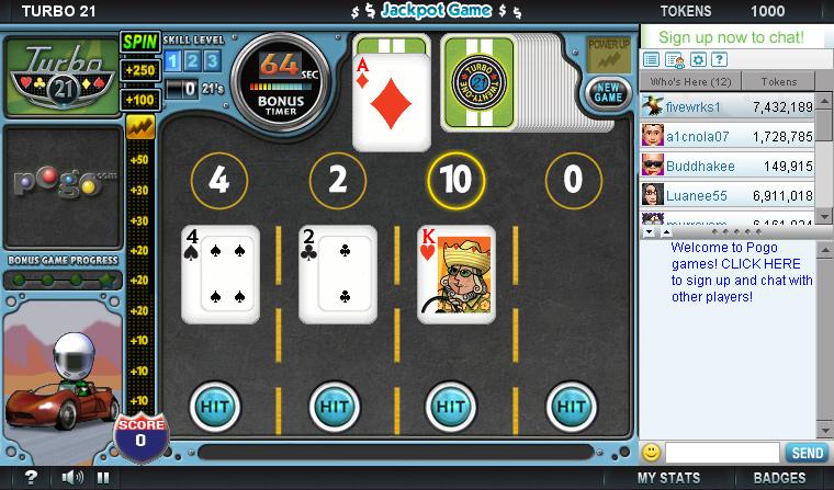 free pogo turbo 21 game