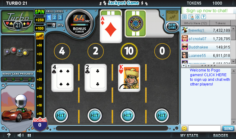 turbo 21 free card games
