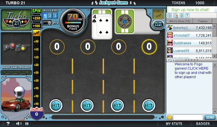 turbo 21 game free online