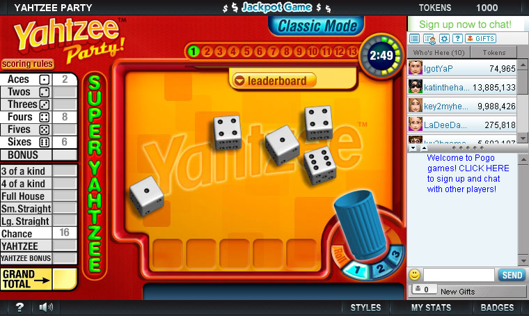 YAHTZEE Party! screen shot