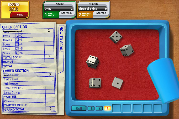 free yahtzee online game play
