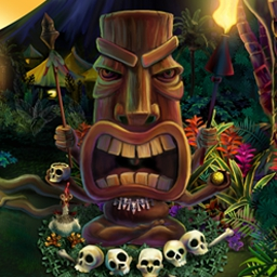 Zuma's Revenge on Pogo - Survive the ire of the island by firing stone spheres to destroy the deadly stream of balls in Zuma's Revenge Online. Play now for free! - logo