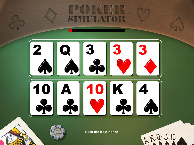 Poker Simulator screen shot