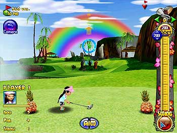 Polar Golfer Pineapple Cup screen shot