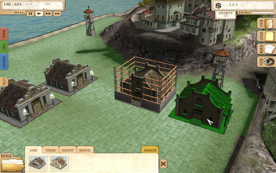 Prison Tycoon - Alcatraz screen shot