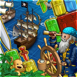 Puzzle Pirates - Pick your pirate's personality in this massive multi-player RPG game! - logo