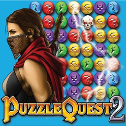 Puzzle Quest 2 - Escape to a fantasy world filled with match 3 gameplay in Puzzle Quest 2! - logo