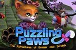 Puzzling Paws is a puzzle game that stars two adorable friends!