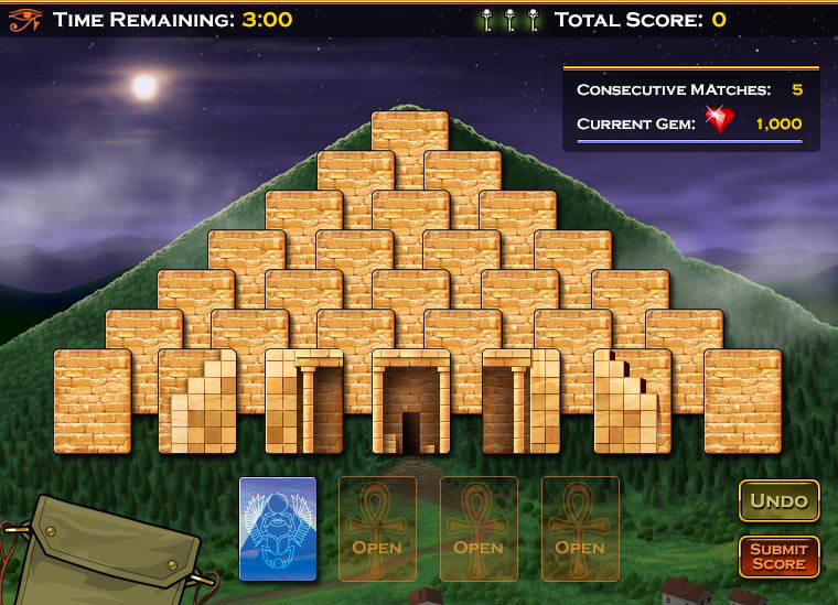 Casino Games Pyramid Solitaire