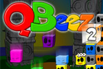 Laugh and cry as you click on colorful QBeez squares.