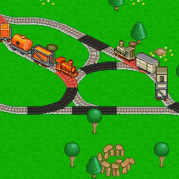 Railway Valley 2 - You're in charge of the railroad network in Railway Valley 2.  Connect cities, create crossings, and keep those trains from crashing! - logo