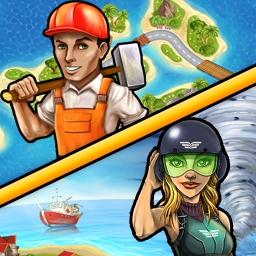 Rescue Team Bundle - Rebuild three islands in the wake of devastating weather! The Rescue Team Bundle is fun, addictive and unlike any other game you've played! - logo